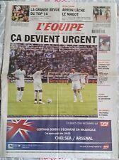L'Equipe Journal 20/8/2005; l'OM 17e de L1/ Arron/ Top 14/ Luyindula/ Selles