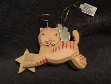 Orange Tabby Cat Angel Ornament