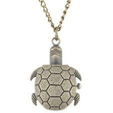 Lovely Tortoise Design Quartz Pocket Watch with Necklace Chain for Children