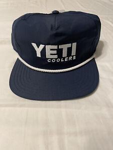 *NEW* YETI Coolers Rope Snapback Cap Navy
