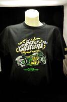 "Jever Bier Biker T-Shirt ""Motiv 1 Customs"" schwarz in XL m. Logo"