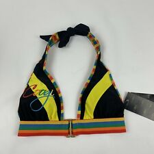 Coogi Bathing Suit Bikini Top Multicolor Embroidered Women's Size Small NWT