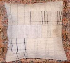 (50*50cm, 20 inch)Genuine Turkish handwoven kilim cushion patchwork/whitecheck10