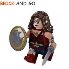 LEGO Minifig Figurine Super Heroes SH221 Wonder Woman + Bouclier + Epée NEUF NEW