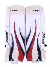 "New DR X55 Goal Sr ice hockey leg pads 36""+1 White Navy Red XLR8 goalie"