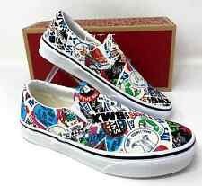 Comics Women VANS Classic Slip On Stickers Mash Up Canvas All Sizes VN0A38F7VFV