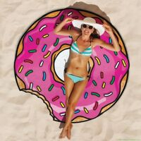 Gigantic Pink Donut Beach Pool Shower Towel Blanket - BigMouth Inc.