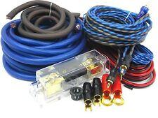 Gravity 4 Gauge Amp KIT Amplifier Install Wiring Set (OFC) BEST 4500 WATTS BlUE  sc 1 st  eBay : best sub wiring kit - yogabreezes.com
