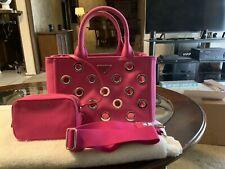 Hot Pink Prada Canvas Handbag With