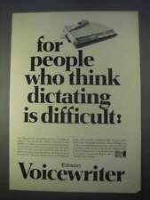 1966 Edison Voicewriter Ad - Think Dictating Difficult
