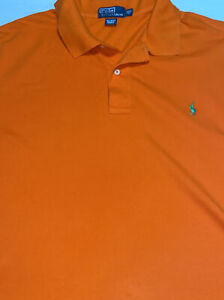 Polo Ralph Lauren Men's Orange Shirt Sleeve Polo Shirt Sz 2XLT Tall