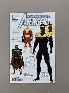Avengers #41 1:10 Javi Garron Design Variant Marvel Comics 2021
