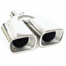 Twin Exhaust Pipe Tip Tail Muffler Chrome For Ford Focus Mondeo Escort Transit