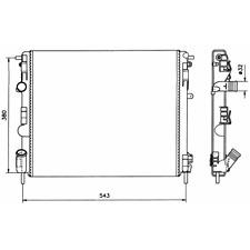 Kühler Motorkühlung - NRF 58148