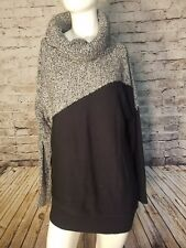 Market & Spruce Women's Stitch Fix Sweater Small Black White Turtle Neck t72