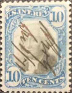 Scott #R109 US 1871 10 Cent Washington Revenue Proprietary Stamp