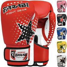 Farabi 6-oz Kids boxing Gloves Punching Bag Pad Workout MMA Kick Boxing Pair
