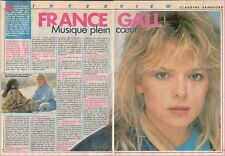 ▬► CLIPPING de 1987  FRANCE GALL (2 pages)