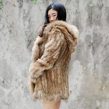 Knit Rabbit Fur Lady Jacket, Real Fur Coat, Winter Coat, Real Fur Jacket