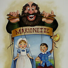 Pinocchio Teatrino Marionette Mangiafuoco cm 30 x 40 Glenda vaccaro Livorno