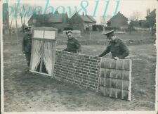 Original WW2 Photo Operation Bodyguard D Day Deception Soldiers fake Building