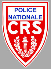 STICKER CRS COMPAGNIE REPUBLICAINE SECURITE LOGO POLICE AUTOCOLLANT 9cm CB087