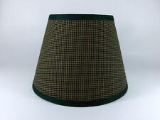 Country Primitive Green Mini Check Homespun Fabric Lampshade Lamp Shade