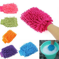 Auto Care2 in 1Ultrafine Fiber Chenille Microfaser CarWash Handschuh Mitt Soft ^