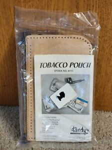 Vintage Tandy Leather Kit - Tobacco Pouch Kit #4111 - New in Box