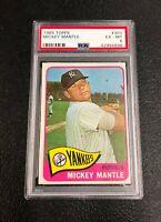 New York Yankees Mickey Mantle 1965 Topps #350 PSA Ex-Mt 6