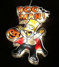 halloween Simpsons Bart Lighted Sculpture Decor 15 Inch, 20 Lights Halloween NIB