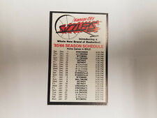 Kansas City Sizzlers 1985/86 CBA Basketball Pocket Schedule Card - Americana