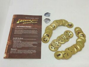 Indiana Jones DVD Adventure Game Replacement Parts Cardboard Rules Medallions