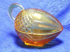 L. E. Smith Amber Glass Acorn