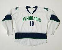 Florida Everblades Youth XL Lightweight Wendys Promo Jersey White ECHL Hockey