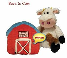 NEW~HAPPY NAPPERS COW IN BARN-TRANSFORMS FROM BARN TO COW AND BACK