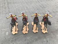VINTAGE Cherilea Toys 1970's (1:32 Scale) Cowboy on Horse (4 figures)