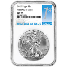 2020 $1 American Silver Eagle NGC MS70 FDI First Label