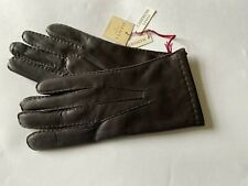 Genuine Dents leather gloves - 100% Cashmere lined leather - Brown - Chelsea