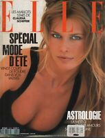 Elle French High Fashion Magazine 7 Juin 1993 Claudia Schiffer 091619AME