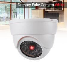 Dummy Fake Dome Camera Security CCTV Surveillance LED IR Light Home Montor White