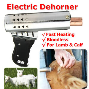 220V Electric Dehorner Iron Chamfer Bloodless Lamb Fast Heating Farm Cattle  ~