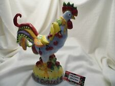 Poultry In Motion Fruit Cocktail Ceramic Rooster Chicken - by Sharon Neuhaus