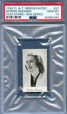 1940 CT Bridgewater Film Card #27 NORMA SHEARER Actress THE DIVORCEE PSA 10