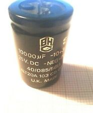 Pack of 5 x 10000uF 25V CHASSIS MOUNT UK Made electrolytic Capacitor