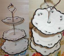 3 niveles Reposteria Pastel Placa Soporte de exhibición Negro Blanco Naranja Diente De León Semilla