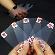 Creative Waterproof Clear PVC Playing Cards Size Plastic Table Gaming Poker