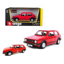 MODELLINO VOLKSWAGEN GOLF Mk1 GTi 1979 ROSSO RED RUBBIT SCALA 1/24  BBURAGO