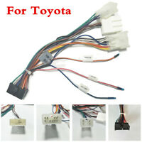 ISO Wiring Harness Cable Lead Loom Plug Adaptor For Toyota 2Din Car Radio Stereo