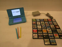 Blue Nintendo DSi Handheld Game Console With 30 plus Games ,Stylus and Charger